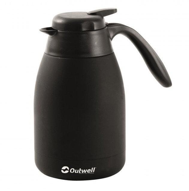 Černá termoska na pití Flask, Outwell - objem 0,6 l