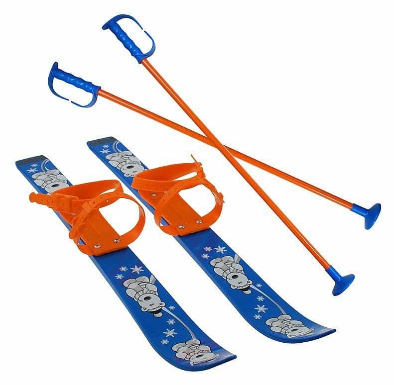 Modrá dětská sada na sjezdové lyžování Sulov - délka 70 cm