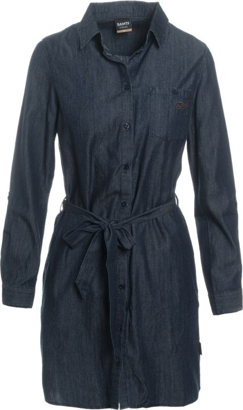 Modré dámské šaty Sam 73