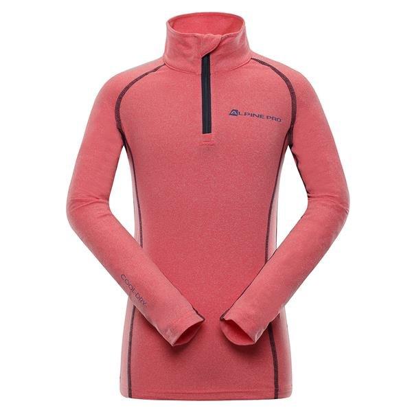 Růžové dívčí funkční tričko Alpine Pro - velikost 116-122