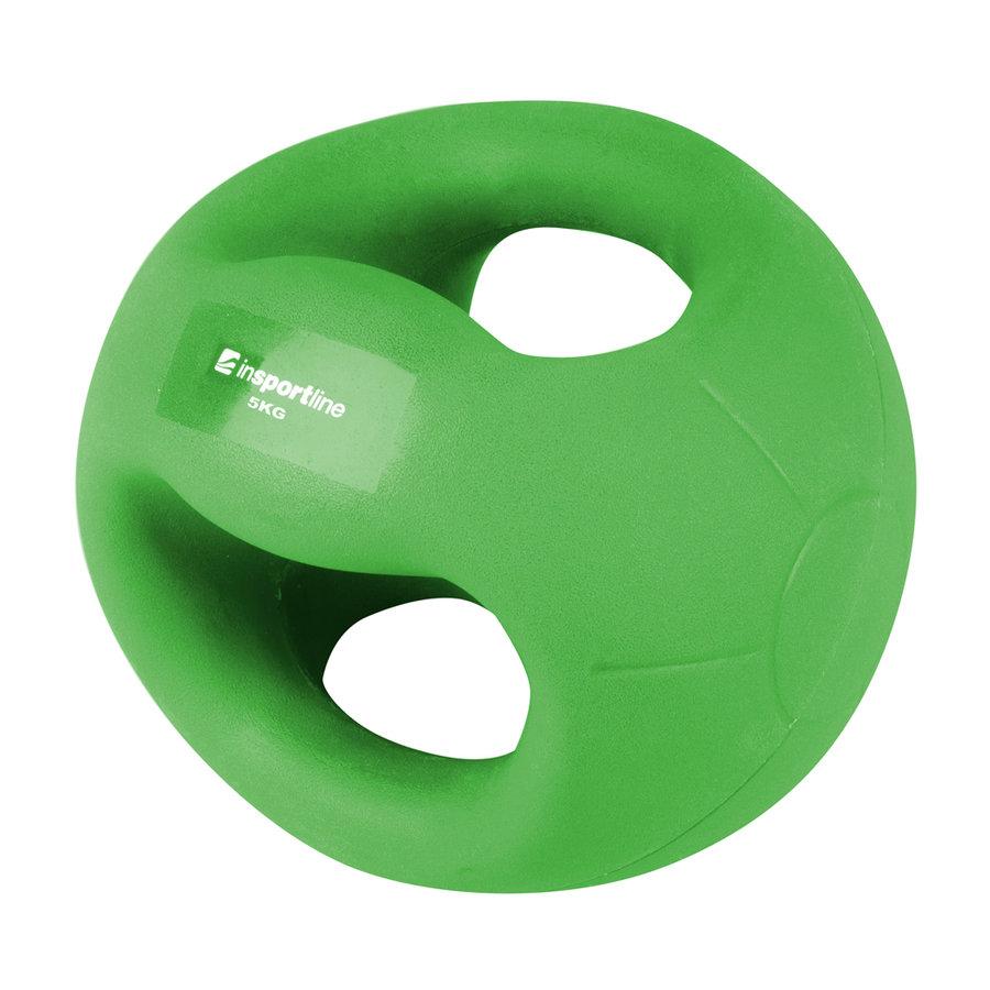 Medicinbal s úchopy Grab Me, Insportline - 5 kg