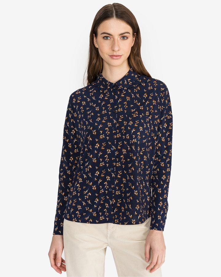 Modrá dámská košile s dlouhým rukávem Vero Moda