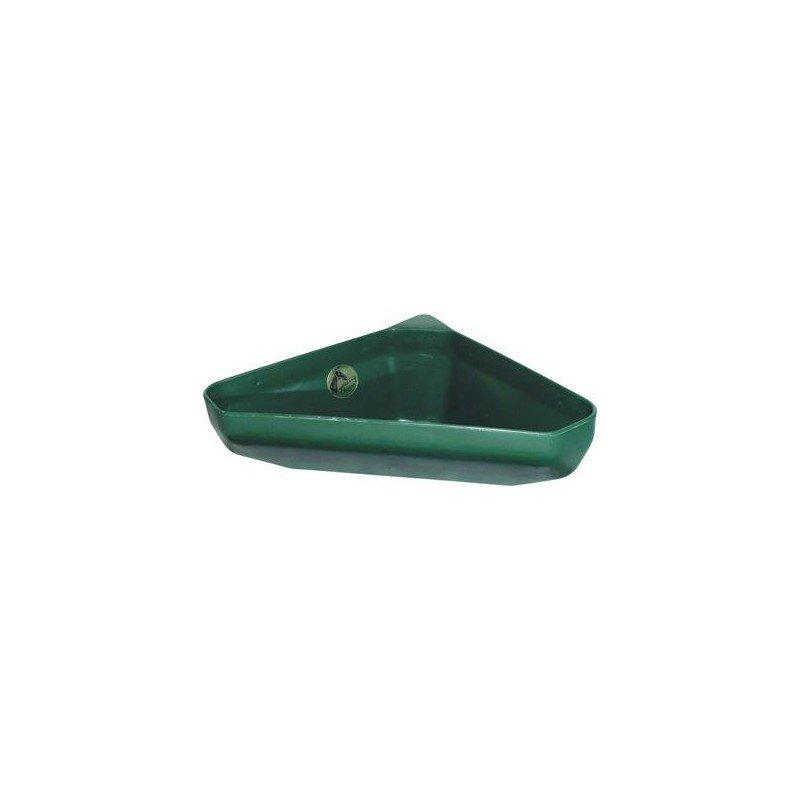 Zelený plastový rohový žlab - objem 21 l