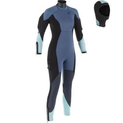 Modrý polosuchý oblek Subea - velikost S a tloušťka 7 mm