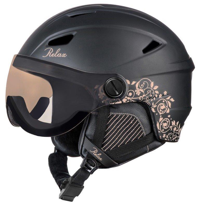 Černá dámská lyžařská helma Relax