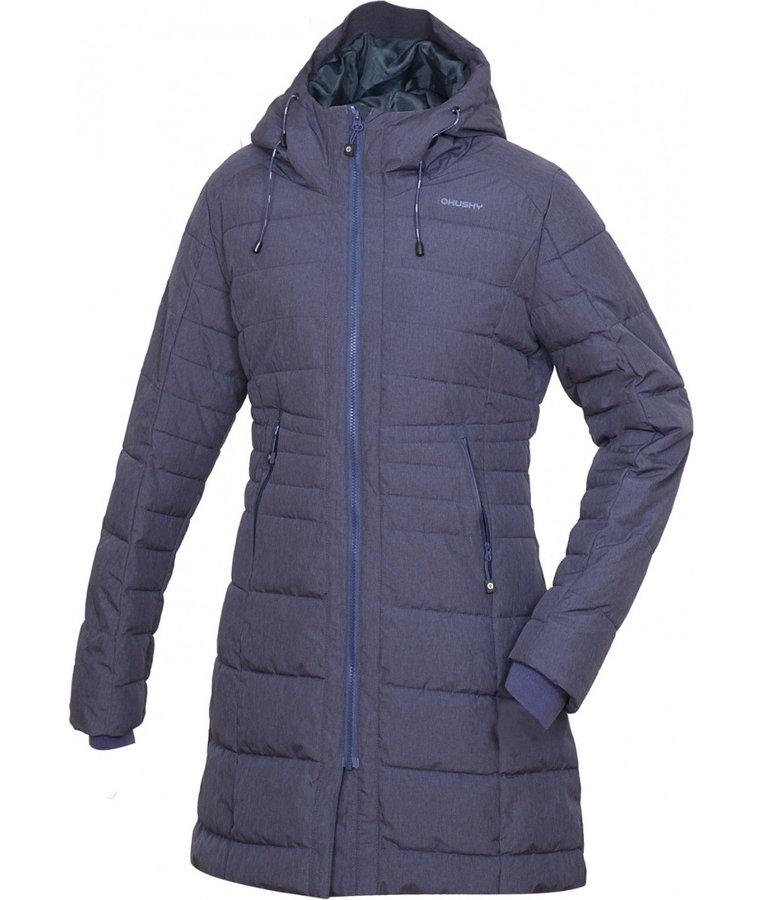 Modrý zimní dámský kabát Husky - velikost XS