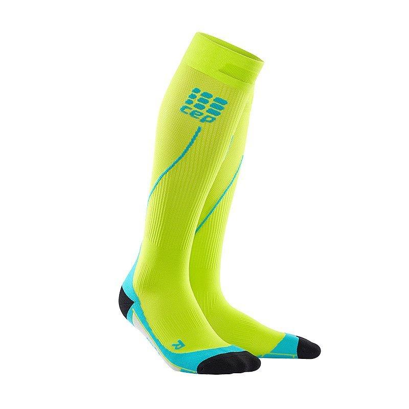 Zelené vysoké pánské běžecké ponožky CEP - univerzální velikost