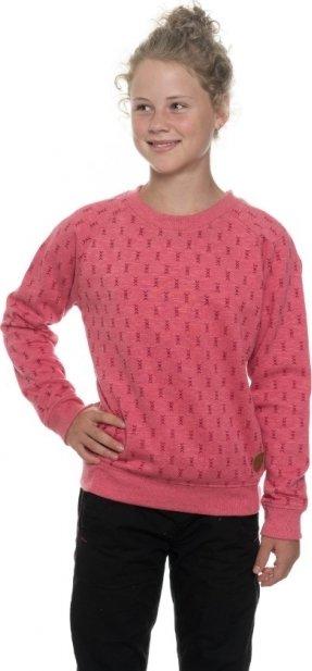 Růžová dívčí mikina bez kapuce Sam 73 - velikost 164