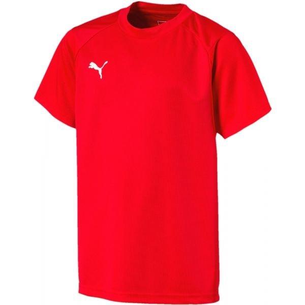 Červené dětské tričko s krátkým rukávem Puma