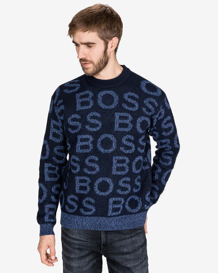 Modrý pánský svetr Hugo Boss