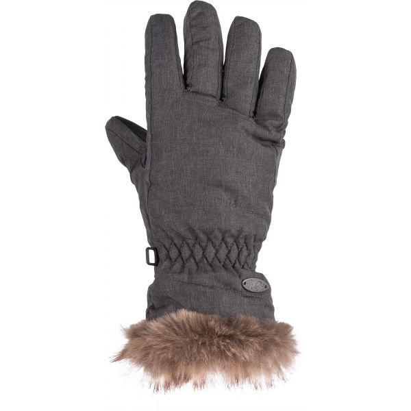 Šedé dámské zimní rukavice Willard