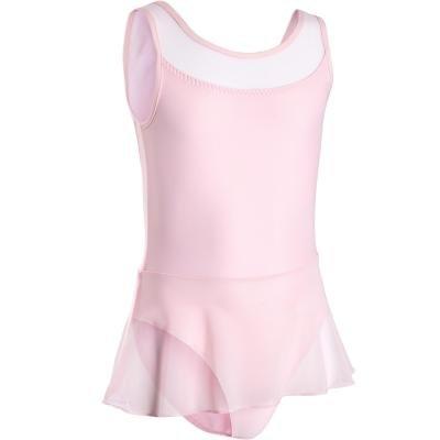 Růžový dívčí baletní trikot se sukní Domyos