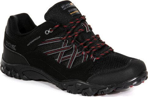 Černé nepromokavé pánské trekové boty Edgepoint, Regatta