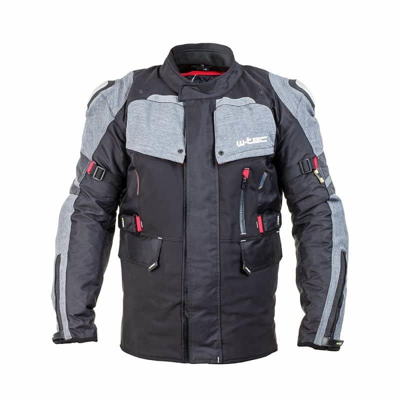 Černo-šedá pánská motorkářská bunda Tomret NF-2220, W-TEC