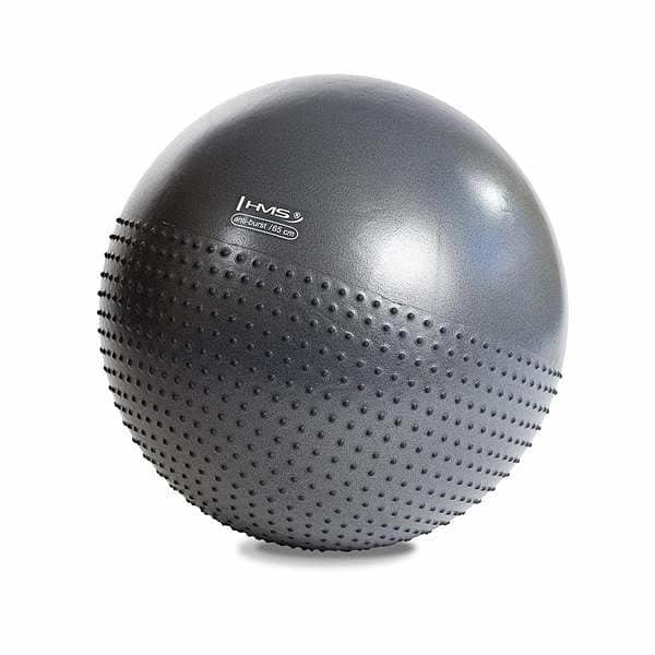 Šedý gymnastický míč s pumpou HMS - průměr 75 cm