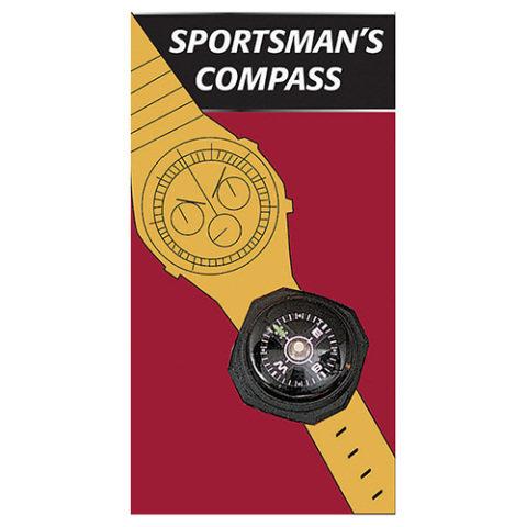Kompas - Kompas ROTHCO na hodinky nebo náramek ČERNÝ