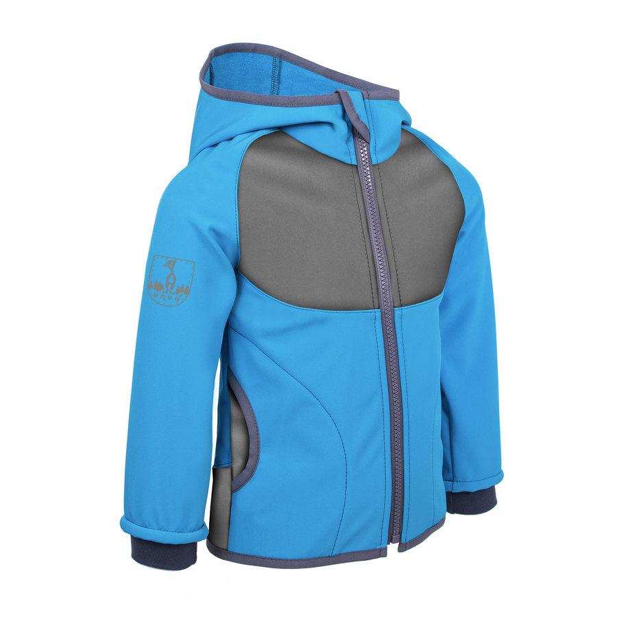 Modrá softshellová dětská bunda Unuo - velikost 128