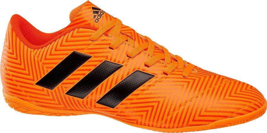 Oranžové kopačky - sálovky Nemeziz Tango 18.4 IN, Adidas - velikost 41 1/3 EU