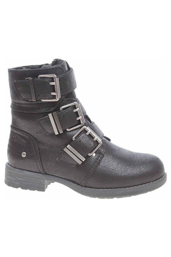 Černé dámské kotníkové boty s.Oliver - velikost 40 EU