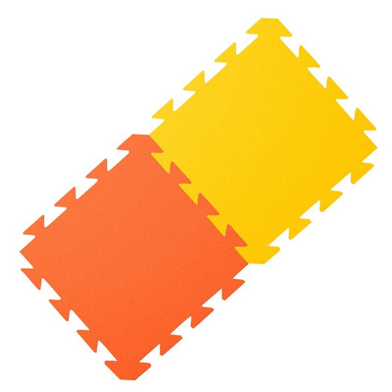 Oranžovo-žlutá zátěžová podložka Yate - tloušťka 1,2 cm