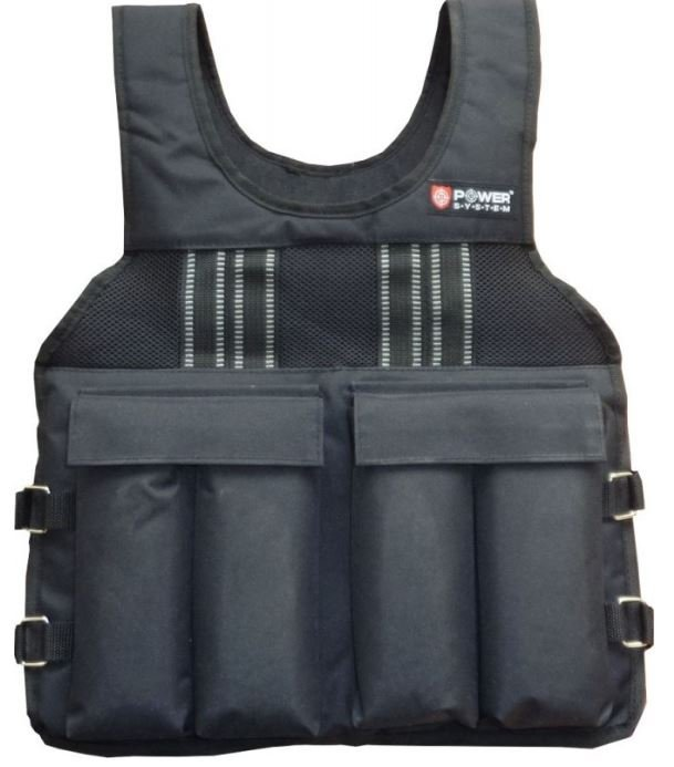 Černá zátěžová vesta Weighted vest, Power System - 10 kg