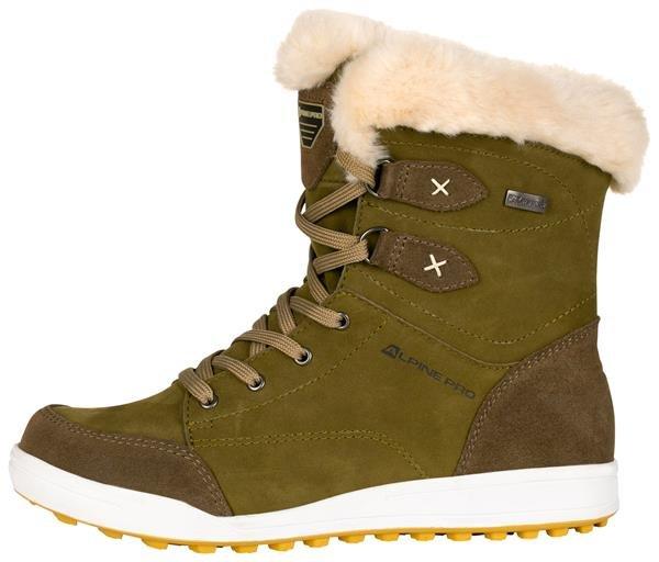 Zelené dámské zimní boty Alpine Pro