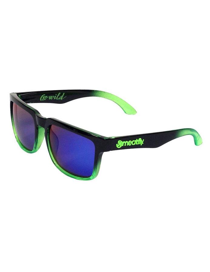Sluneční brýle - Meatfly Class E - Black/Green Velikost: JEDNOTNÁ VELIKOST