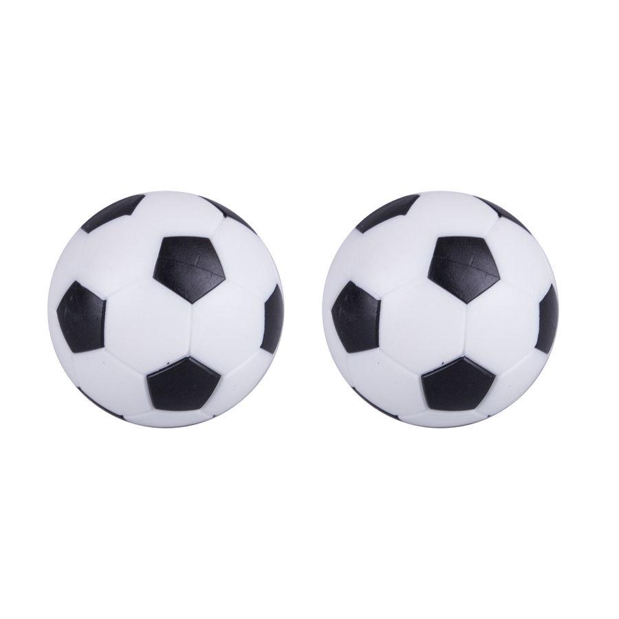 Bílo-černý plastový míček na stolní fotbal inSPORTline - průměr 36,7 mm - 2 ks