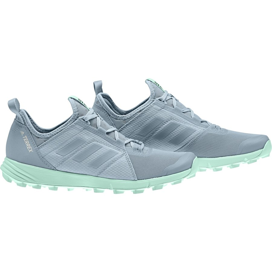 Modré dámské běžecké boty Adidas - velikost 40 EU