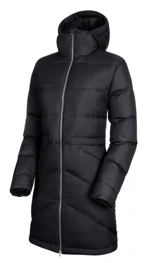 Černá zimní dámská bunda s kapucí Mammut - velikost L