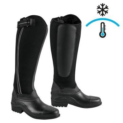 Černé zimní jezdecké boty Kerbl