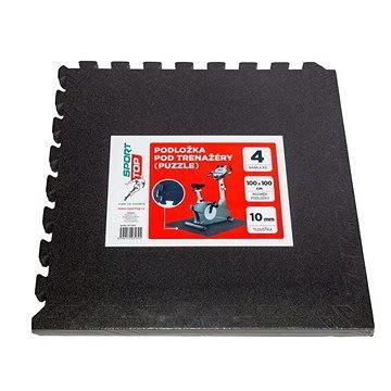 Černá zátěžová podložka Sportop - tloušťka 10 mm