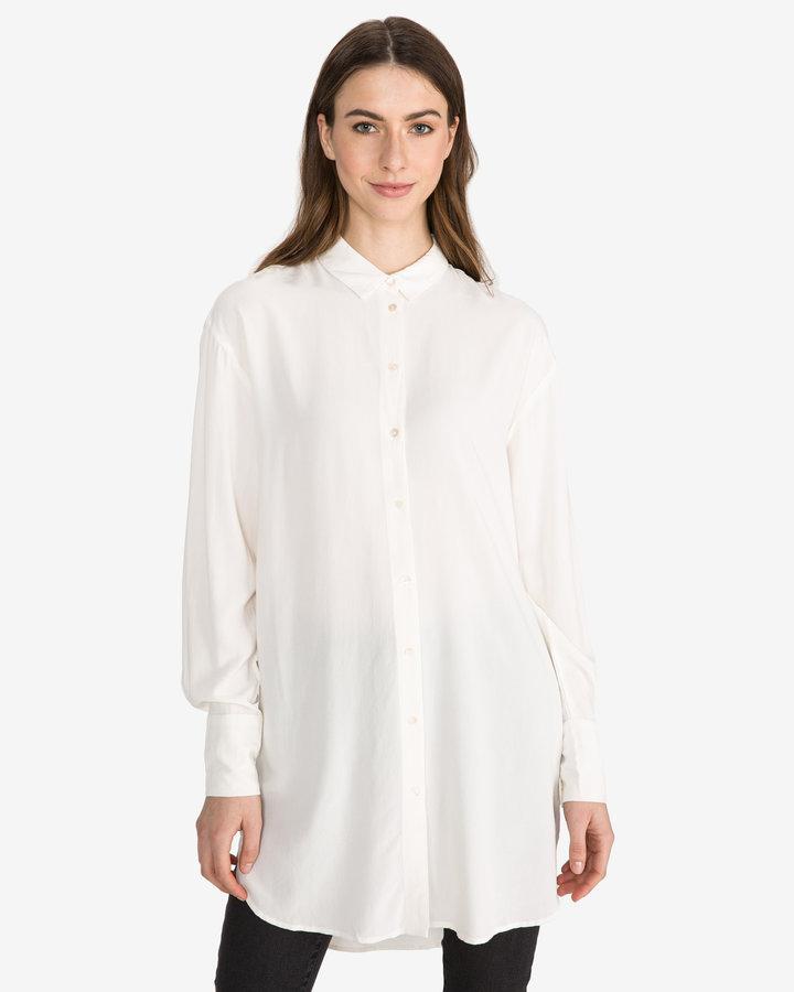 Bílá dámská košile s dlouhým rukávem Vero Moda