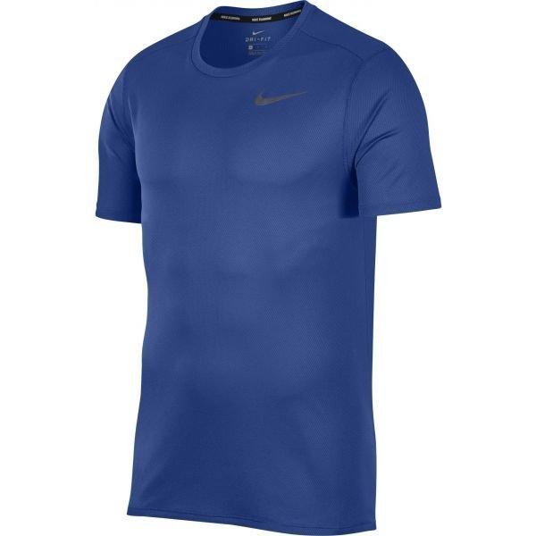 Modré pánské běžecké tričko Nike