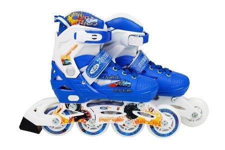 Modré dětské kolečkové brusle Flimboo - velikost 30-33 EU