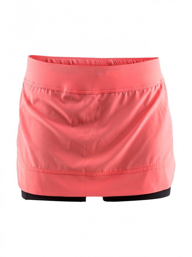 Oranžová dámská běžecká sukně Craft - velikost S