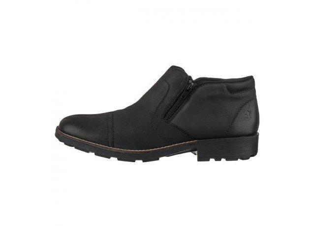 Černé pánské zimní boty RIEKER