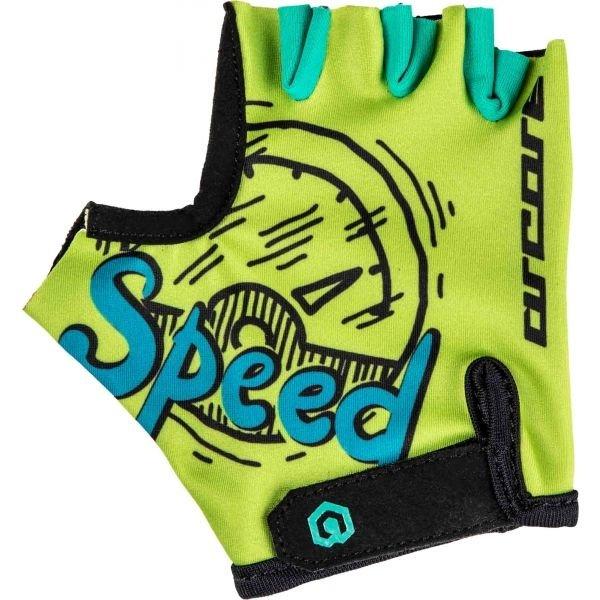 Modro-zelené dětské cyklistické rukavice Arcore