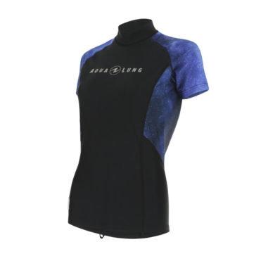Černo-modré dámské lycrové tričko RASH GUARD GALACTIC PURPLE LADY, Aqualung - velikost L