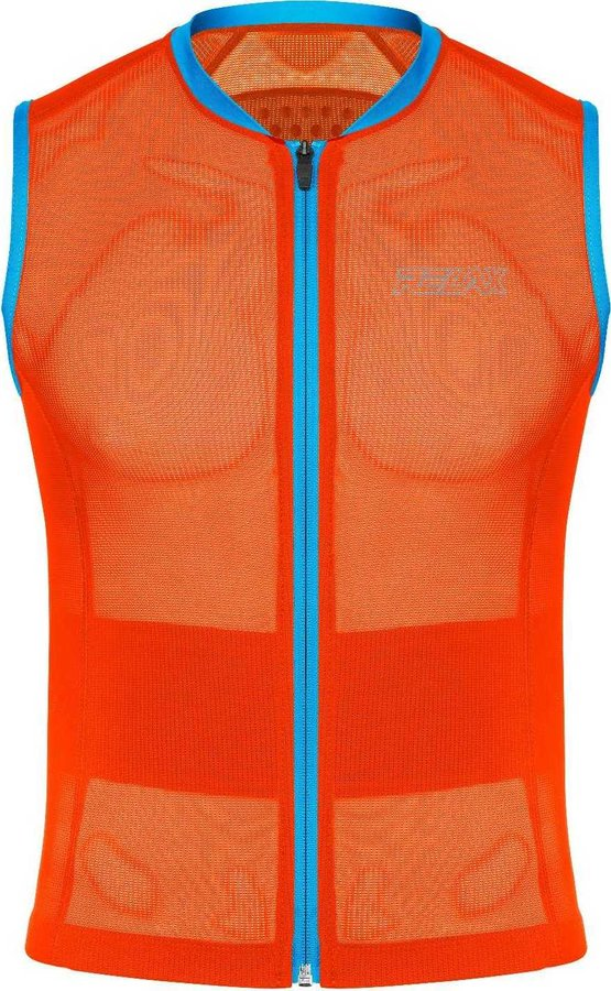 Oranžový dětský chránič páteře na lyže Relax