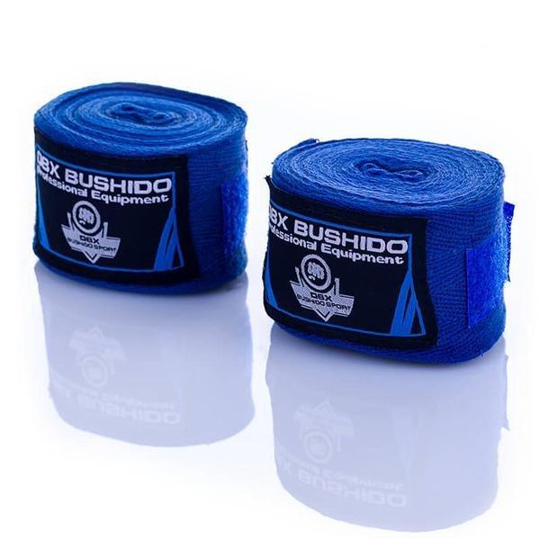Modrá boxerská bandáž Bushido - délka 4 m