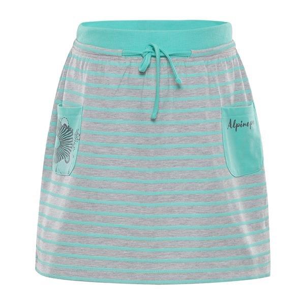 Šedo-zelená dívčí sukně Alpine Pro - velikost 116-122