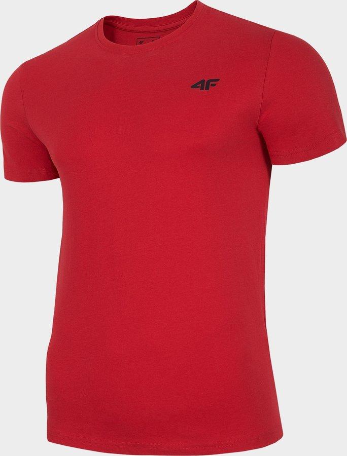 Červené pánské tričko s krátkým rukávem 4F