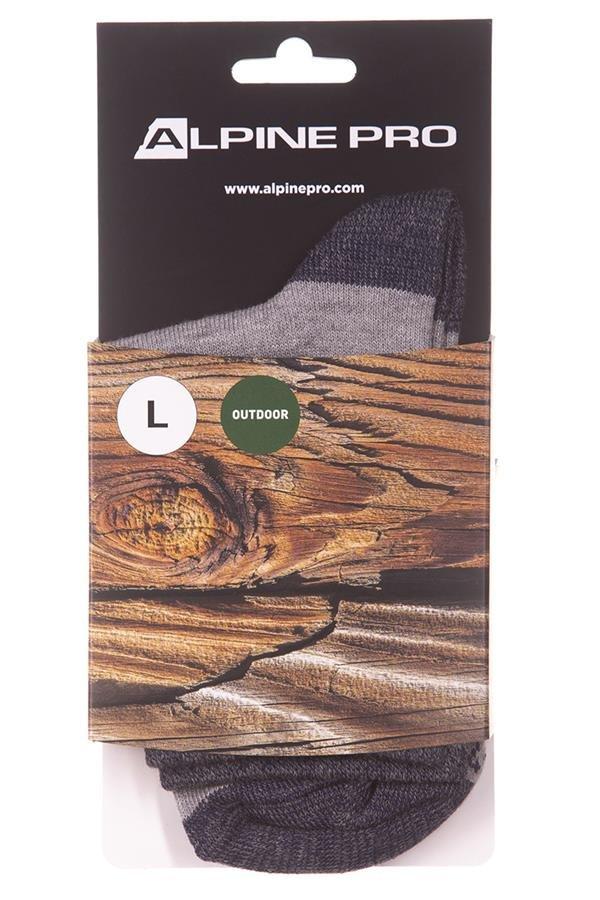 Šedé dětské kotníkové ponožky Alpine Pro - velikost S