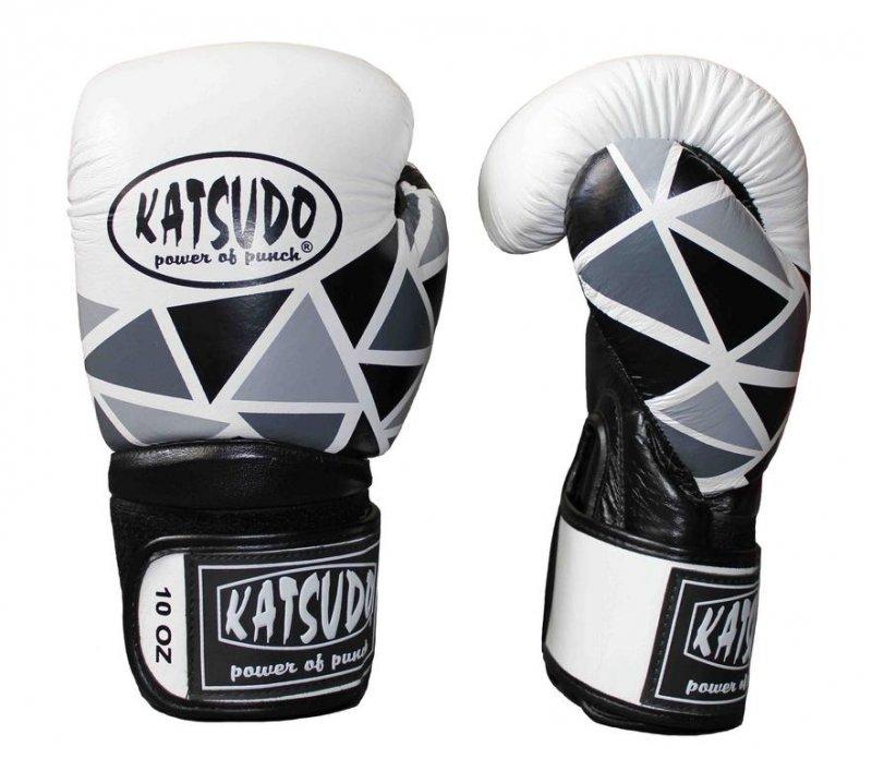 Bílo-černé boxerské rukavice Katsudo