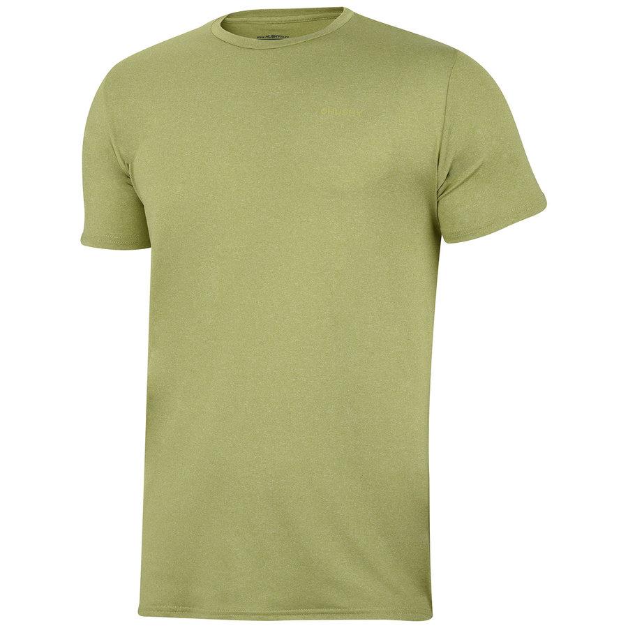 Zeleno-žluté pánské tričko s krátkým rukávem Husky