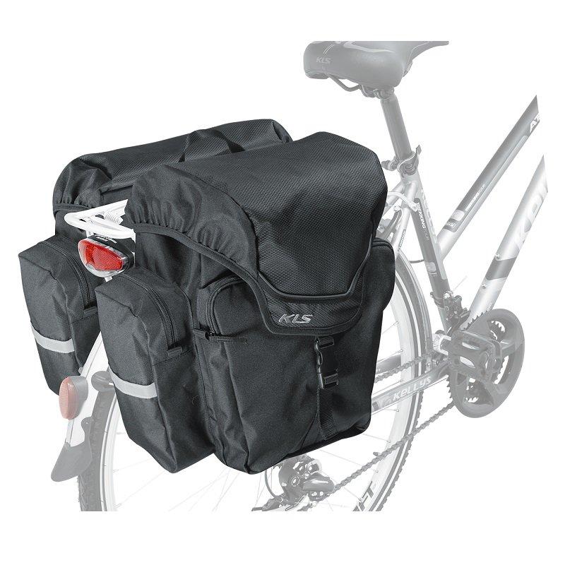Černá brašna na kolo na zadní nosič Adventure, Kellys - objem 40 l