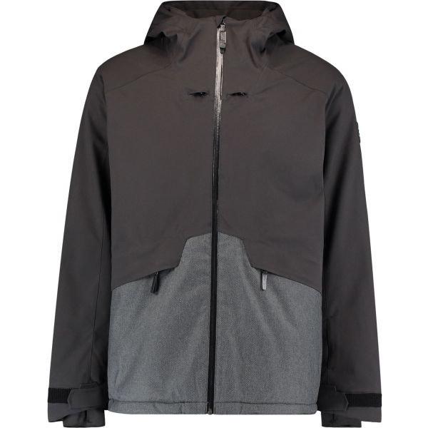 Černo-šedá pánská lyžařská bunda O'Neill