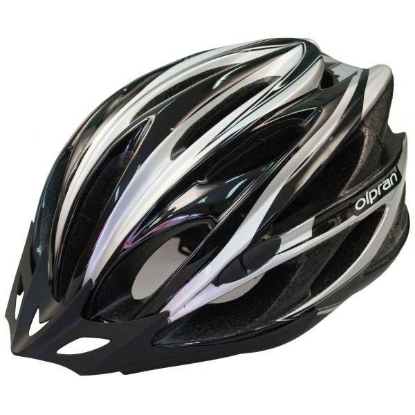 Bílo-černá cyklistická helma Olpran - velikost 57-60 cm