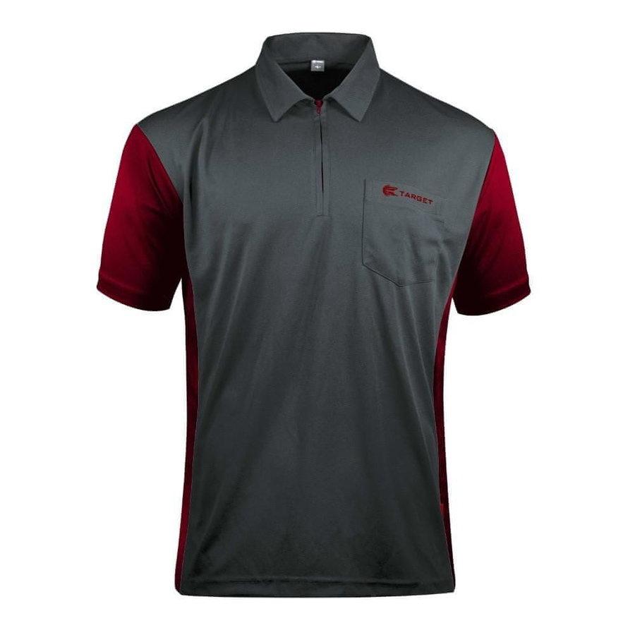 Červeno-šedý šipkařský dres Target Darts - velikost XL